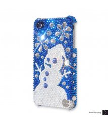 Snowflake Snowman Crystal Phone Case