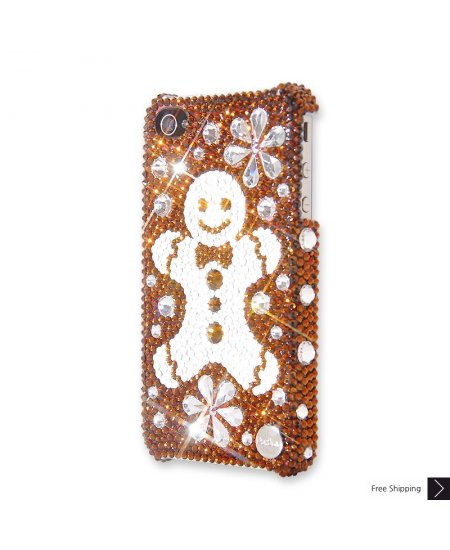 Snowflake Gingerbread Crystal Phone Case