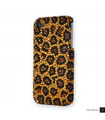 Leopard Print Crystal Phone Case