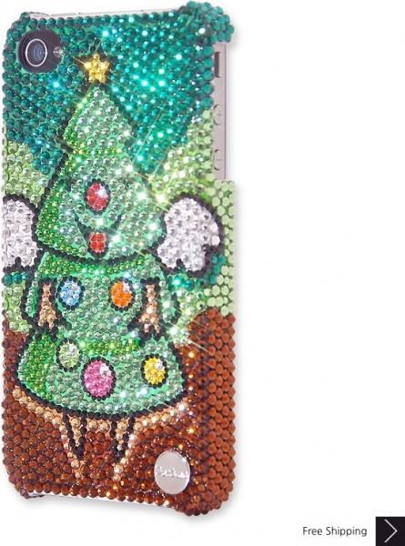 エンジェル クリスマス ツリー クリスタル電話ケース
