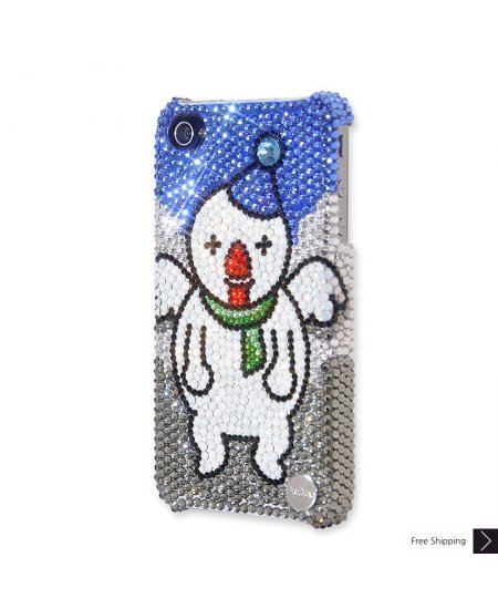 Christmas Angel Snowman Crystal Phone Case