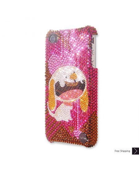 Puppy Love Crystal Phone Case