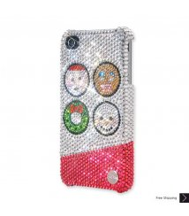 Happy Santa Crystal Phone Case