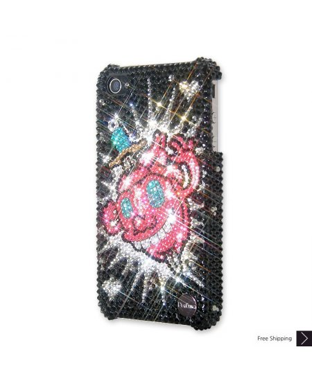 Glowing Hearts Crystal Phone Case