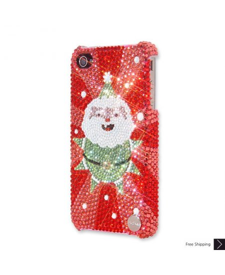 Cute Santa Crystal Phone Case