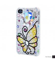 Butterfly Heart Crystal Phone Case